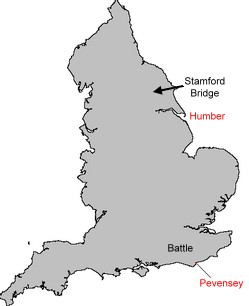 the battle of stamford bridge ad map map