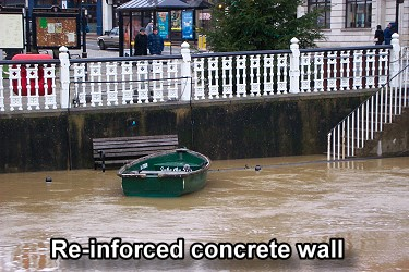 re-inforced concrete wall