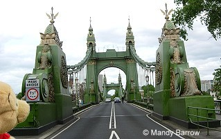 Tower Bridge is close to the Tower of London, which gives it its name.