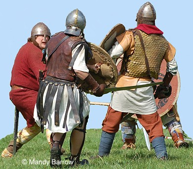 British fighting the Saxons