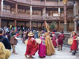 dancing inside the globe theatre