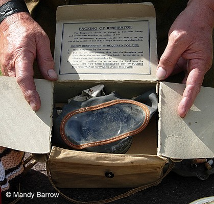 Gas mask in a box